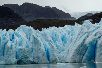 Poster Glaciers Grey Glacier, Torres del Paine National Park, Chile, Patagonia