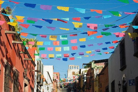Mexico, Guanajuato, San Miguel de Allende, Day of the Dead Decorations