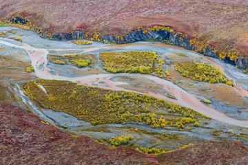 USA, Alaska, Brooks Range, Arctic National Wildlife Refuge. Aerial of Ivishak River. Credit as: Don Paulson / Jaynes Gallery / DanitaDelimont.com