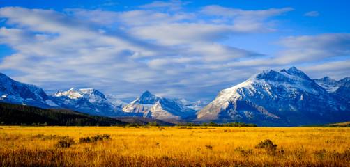 Montana, USA. Glacier National Park, landscape, autumn