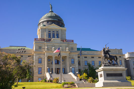 The State Capitol building in Helena, Montana, USA