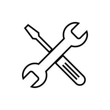 Repair icon. Wrench and screwdriver icon. Settings vector icon. maintenance