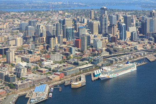 Aerial View of Seattle, Washington State, USA