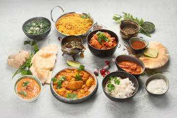 Wall Mural - Traditional indian cuisine