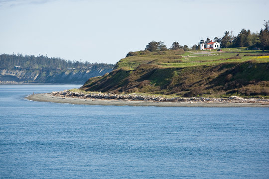 Admiralty Lighthouse and Ft. Warden on Whidby Island, WA