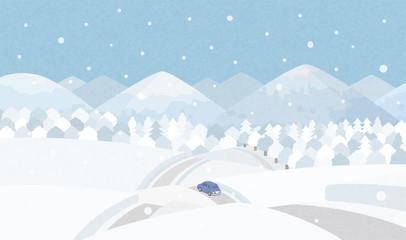田舎道 冬