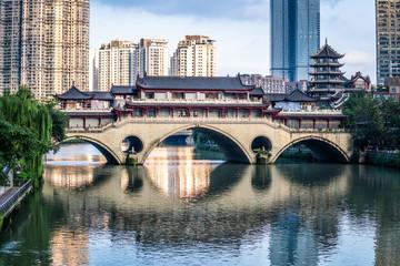 View of Anshun bridge on daytime in Chengdu China