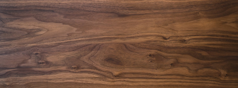 Black walnut wood texture from two boards oil finished