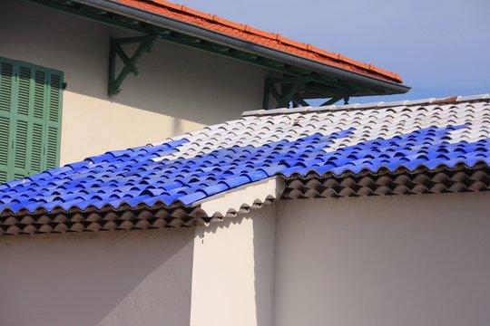 le toit de la chapelle du rosaire