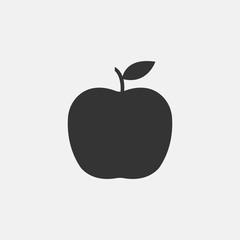 Apple vector icon illustration sign