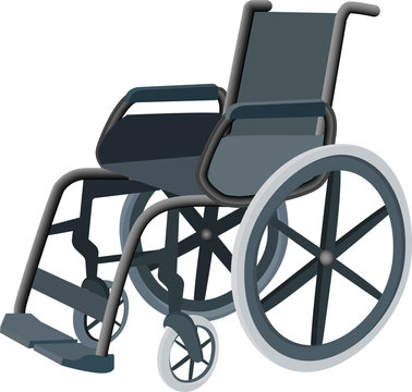 Wheelchair design concept, wheelchair rental. Can be used for website and mobile site and application. Vector illustration .
