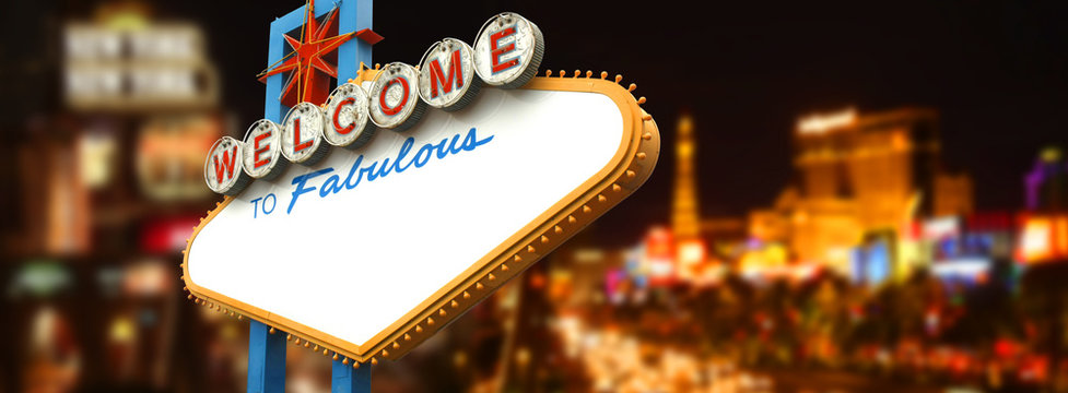 Empty La Vegas sign