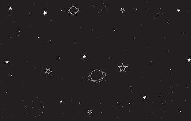 Stat at night sky background. illustration vector wallpaper for template, banner social media advertising. modern geometric style.