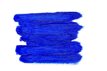 Abstract blue oil painting brush strokes