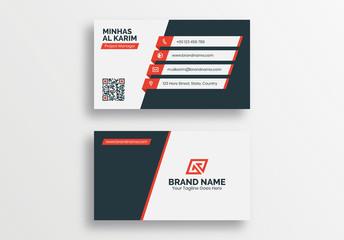 Modern Creative Business Card Template, Developer Designer Visiting Card Design