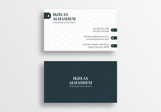 Law Firm Style Business Card Design Template, Lawyer Visiting Card