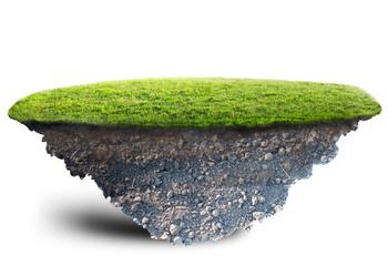 Wall Mural - green grass island