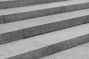 Gray stone steps on the street