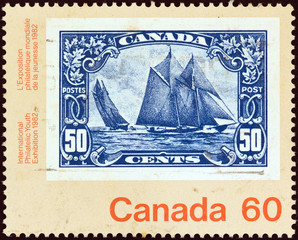 50c stamp from 1929 (Canada 1982)
