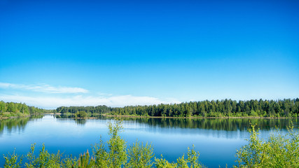 Lake scene with vibrant color