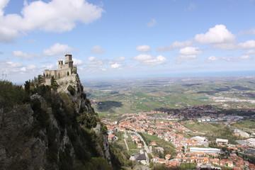 San Marino. Fortress on Titano mount Wall mural