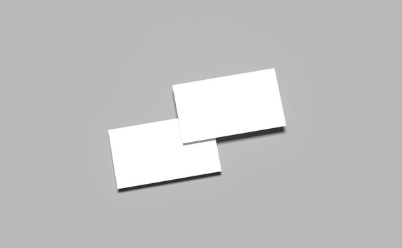 Mockups,templates white business cards,3D renders