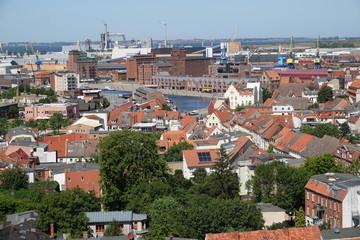 Panorama der Hansestadt Wismar an der Ostsee