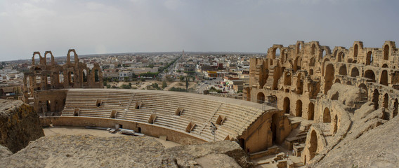 Foto auf Gartenposter Tunesien Amphitheatre of El Jem Tunisia