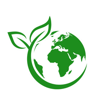 Green earth, World Environment Day, concept of saving the planet – stock vector