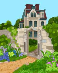 Foto op Canvas Sprookjeswereld Victorian House Facade