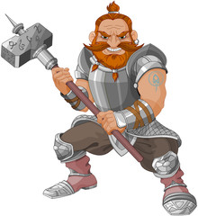 Photo sur Aluminium Magie Fantasy Style Dwarf