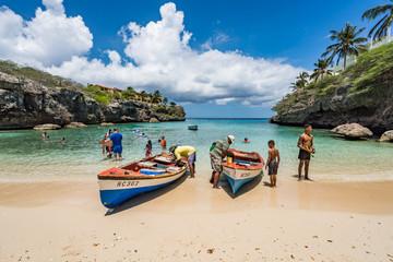 Lagun Beach on the caribbean island of Curacao
