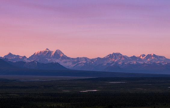 Scenic views near the Denali highway in Alaska