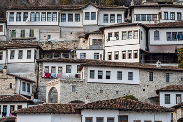 View of the old town of Berat.