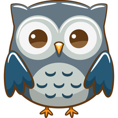 Foto op Plexiglas Uilen cartoon owl vector graphic clipart design