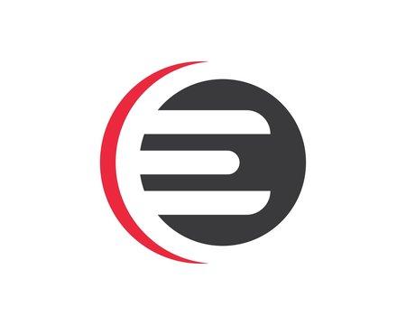 e letter logo icon illustration vector