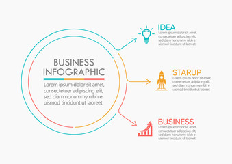 Business data visualization. timeline infographic icons designed for abstract background template milestone element modern diagram process technology digital marketing data presentation chart Vector Wall mural