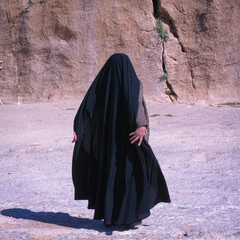 Muslic woman leaving