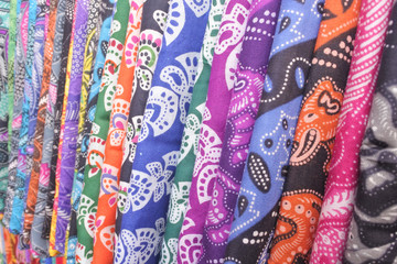 Colorful Sarongs for Sale in Bali