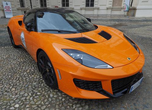 TURIN - JUN 2016: Lotus Evora car