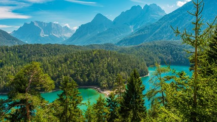 The Blindsee Lake in Tyrol Wall mural