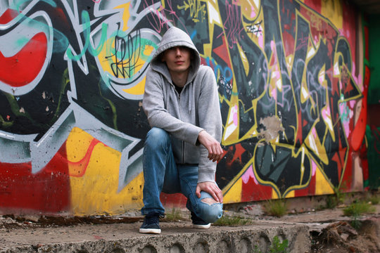 a young man in a hoodie hip-hop
