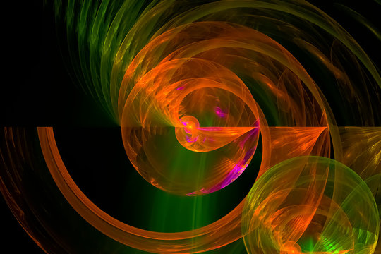 abstract fractal fantasy design background creative future