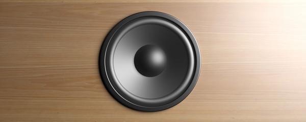 Speaker closeup background. 3d illustration