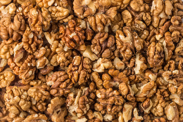 Background of walnuts