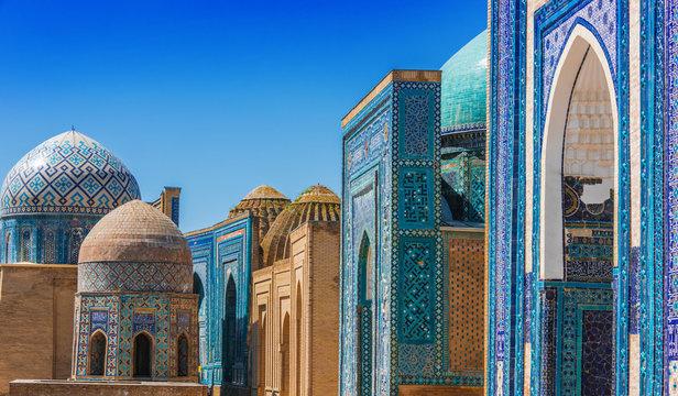 Shah-i-Zinda, a necropolis in Samarkand, Uzbekistan