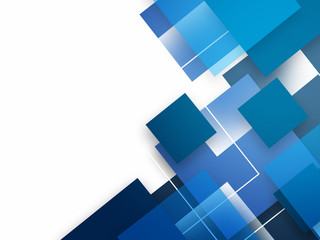 Abstract background with blue squares Wall mural