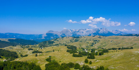 National park of Durmitor, landscape mountain in Montenegro