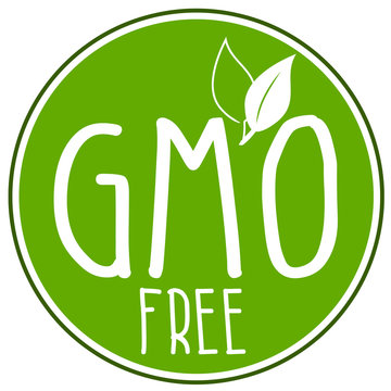 Green Illustration circl with gmo free isolated