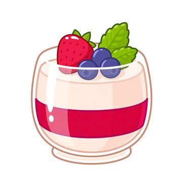 Berry panna cotta
